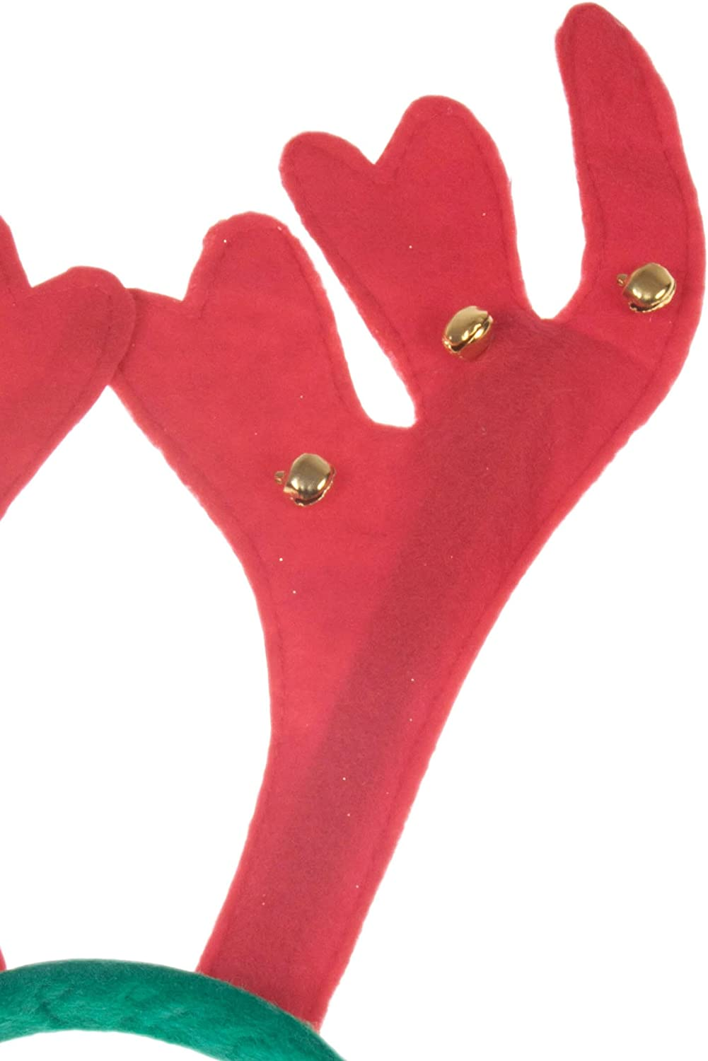 One Size Fits Most Adults /& Kids Christmas Novelty Cute Red Nose Rudolph Reindeer Hat by Clever Creations