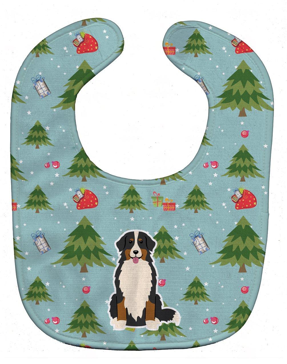 Caroline's Treasures BB4696BIB Christmas Bernese Mountain Dog Baby Bib, 10 x 13