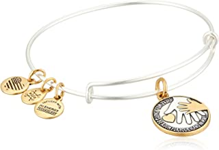 Alex and Ani Womens Hand in Hand II Two-Tone Bangle