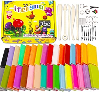 iFergoo Polymer Clay, 32 Colors Oven Bake Modelling Clay, DIY Colored Clay Kit with..