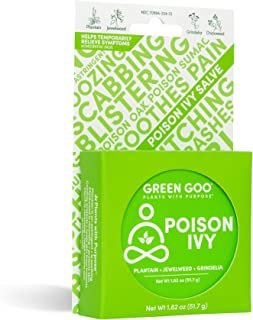 Green Goo Natural Skin Care Salve, Poison Ivy Treatment and Relief, 1.82-ounce Large Tin