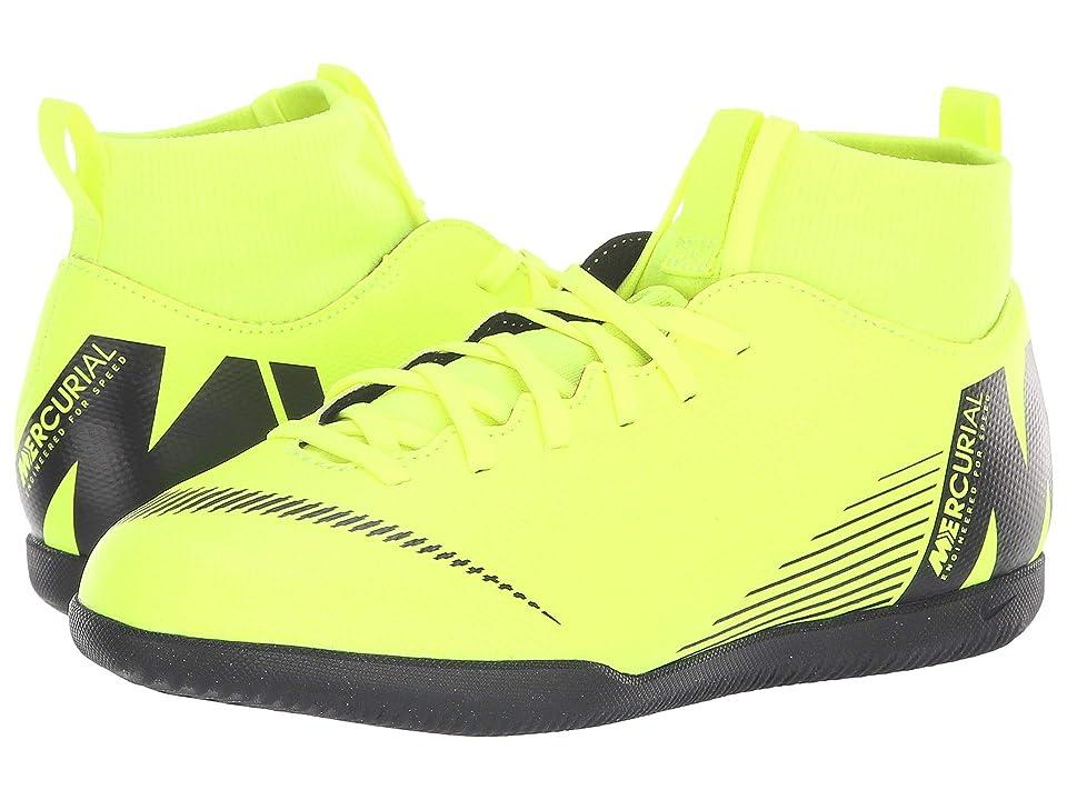 Nike Kids SuperflyX 6 Club IC (Toddler/Little Kid/Big Kid) (Volt/Black) Kids Shoes
