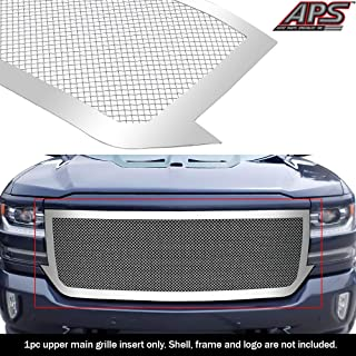 APS Compatible with 2016-2018 Chevy Silverado 1500 Main Upper Stainless Billet Grille Insert S18-T57367C