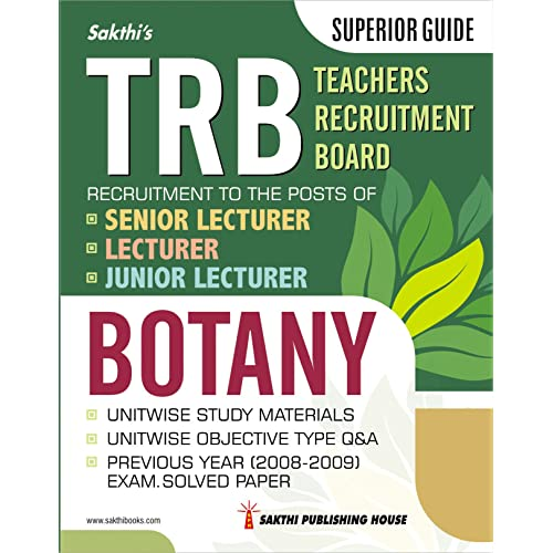 TRB Botany Senior / Junior Lecturer Unitwise Study Materials & Objective Type Q & A