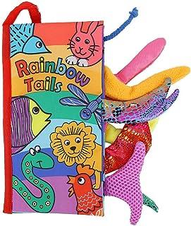 Książka dla niemowląt, jasne kolory piękna materiałowa trwała dla chłopców i dziewcząt do edukacji zabawka dla dziecka do ...