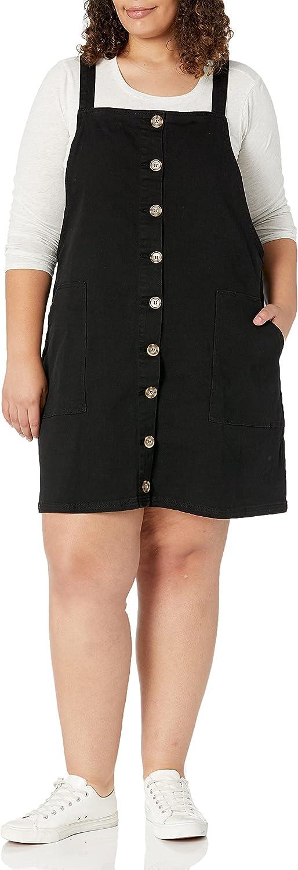 City Chic Women's Apparel Women's Plus Size Dress Denim Button