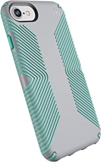 Speck Products Presidio Grip Case for iPhone 8 (Also Fits 7/6S/6), Dolphin Grey/Aloe Green