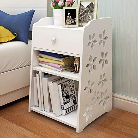 Light Luxury End Table,Fiudx Bedroom End Side Table Chest Nordic Simple Bedside Table Wooden Bedside Table End Table Simple End Table with Drawers Sofa Bed Side Storage Stand Cabinet Shelf Cupboard
