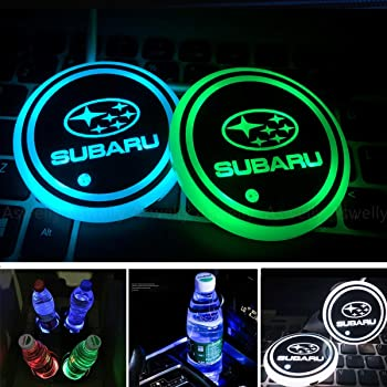 2X Car Logo Light LED Cup Drink Holder Anti Slip Mat Coaster Stickers fit For Seat Ateca Leon Ibiza 2015 2016 2017 altea Accessories Color : Fit For other logo SHIYM-BEI