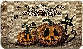 Artoid Mode Happy Halloween Boo Ghost Pumpkin Decorative Doormat, Seasonal Fall Holiday Low-Profile Floor Mat Switch Mat f...