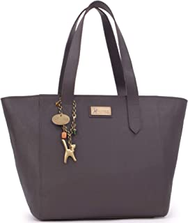 Women's Large Saffiano Leather Tote/Shopper Shoulder Bag - PALOMA