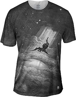 Gustave Dore - Paradise Lost Fall to Earth (1866) -Tshirt- Mens Shirt