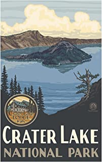 Crater Lake National Park Travel Art Print Poster by Paul A. Lanquist (12