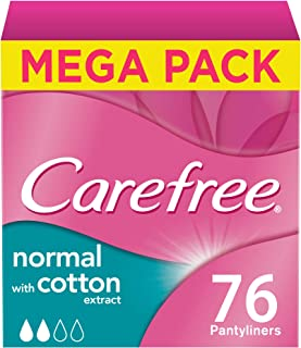 CAREFREE, Panty Liners Cotton Feel, Pack of 76