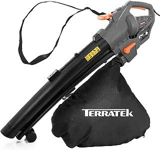 Terratek Leaf blower Garden Vacuum and Shredder, 35L Leaf Collection Bag, 3000W 10m Cable Lightweight Design, Leaf Vacuum,...