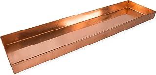 Achla Designs Long Copper Rectangular Windowsill Plant Tray, 20-in
