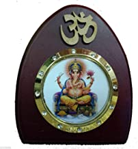 - Sri Ganesh Ji God Idol Statue Wooden Car Dashboard Hindu Religious Home Office Mandir Diwali Decor