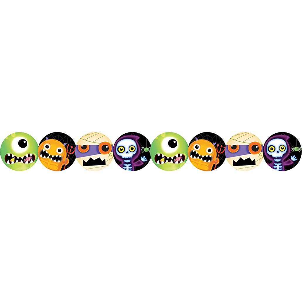 Amscan Boo Crew Halloween Paper Garland (Multi-colored) Party Accessory