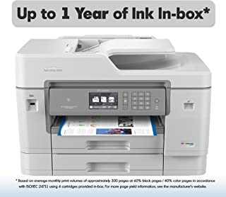 Brother Inkjet Printer, MFCJ6945DW, INKvestment Color Inkjet All-in-One Printer with Wireless, Duplex Printing and Up to 1-Year of Ink in-Box, Amazon Dash Replenishment Enabled (Renewed)