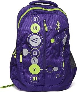 Skybags Polyester Ronan Plus 02 Purple Unisex School Bag
