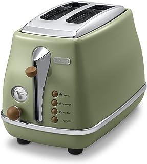 De'Longhi 意大利德龙 多士炉 CTO2003.VGR 橄榄绿(亚马逊自营商品, 由供应商配送)