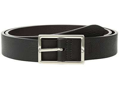 Shinola Detroit 1 1/4 Reversible Rectangle Buckle Belt SS (Black/Deep Brown) Men