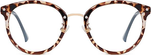 SOJOS Retro Big Round Blue Light Computer Glasses TR90 Eyewear Frame Ashley SJ9001