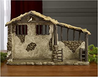 Christmas Nativity Lighted Stable for 14