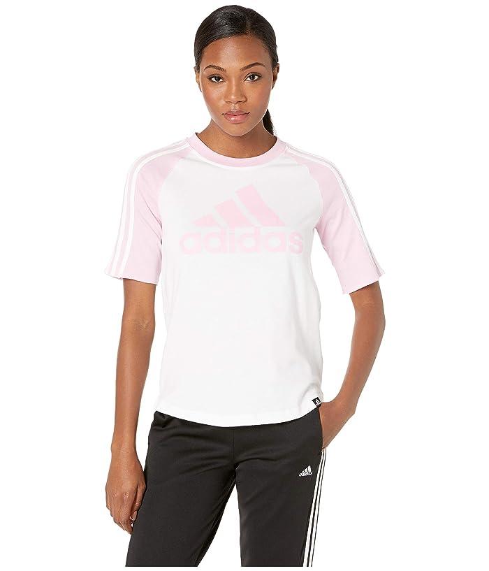 e5fb3057533 adidas Badge of Sport Baseball Tee (White/True Pink) Women
