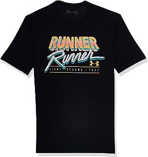 تي شيرت رجالي بأكمام قصيرة مطبوع عليه UA RUNNER RUNNER من Under Armour