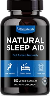 Natural Sleep Aid with Melatonin – [60 Capsules] GABA and Valerian Root | Passion Flower & Hops | Skullcap & Chamomile | Fall Asleep Fast Holistic Supplements for Adults – Sleeping Pills Alternative
