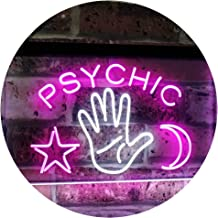 Psychic Reader Star Moon Boutique Bedroom Décor Dual Color LED Neon Sign White & Purple 600 x 400mm st6s64-i3088-wp