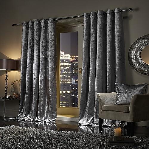 Crushed Velvet Curtains: Amazon.co.uk