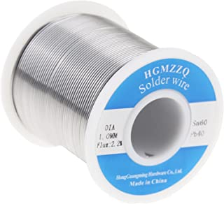 HGMZZQ 60/40 Tin Lead Solder Wire with Rosin for Electrical Soldering 0.039inch (