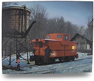 Timeless by Design Canvas Prints Flickering Led Train Caboose Lighted Canvas Wall Hanging 20 X 16 X 0.75 Inches Multicolored