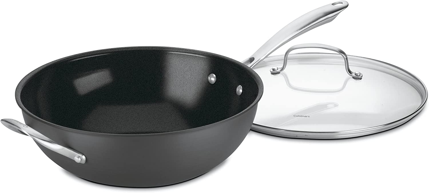 Cuisinart GG33-30H GreenGourmet Hard-Anodized Nonstick 5-1//2-Quart Saute Pan with Helper Handle and Cover