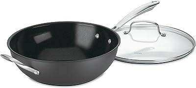Cuisinart GG26-30H GreenGourmet Hard-Anodized Nonstick Stir-Fry Wok with Glass Cover
