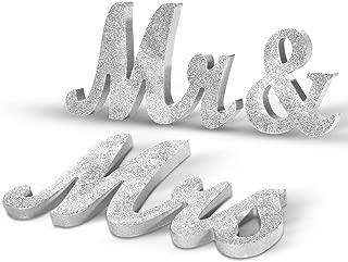 rhinestone mr and mrs sign