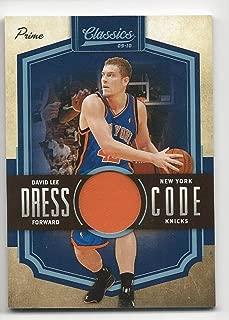 2009-10 Classics Dress Code Jerseys Prime David Lee #11 NM Near Mint MEM 22/25