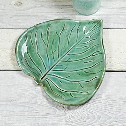 Spoon Rest - Ring Dish - Heart Leaf - Handmade Pottery