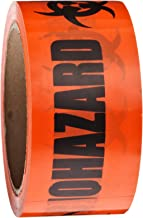 Roll Products 142-0004 PVC Film Biohazard Warning Tape with Black Imprint, Legend