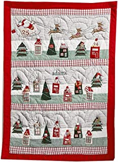 Advent Calendars Christmas Countdown Calendar Christmas Tapestry 24 Pockets Hand-Stitched Christmas Wall Hanging Decorations (Color : Gray, Size : 90125cm)