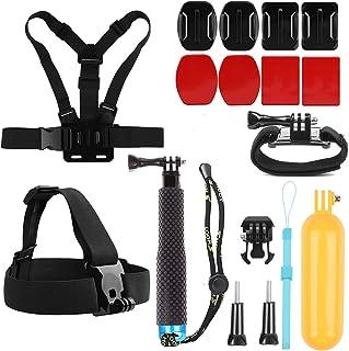 SHOOT Deportivo 8 en 1 Kit Accesorios para GoPro Hero 8/7/6/5/4/3+/3/2 SJCAM SJ4000 SJ5000 SJ6000 Xiaomi Yi Cámara de Acción
