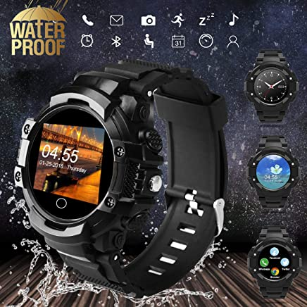 Fitness Tracker Smart Watch with Heart Rate Blood Pressure Sleep Monitoring Pedometer Waterproof Call&SMS Sedentary Reminder SmartWatche Touchscreen for Men Women Android iPhones Gift for Lover Parent
