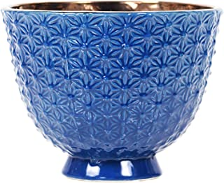 Little Green House Round Ceramic Vase, Blue