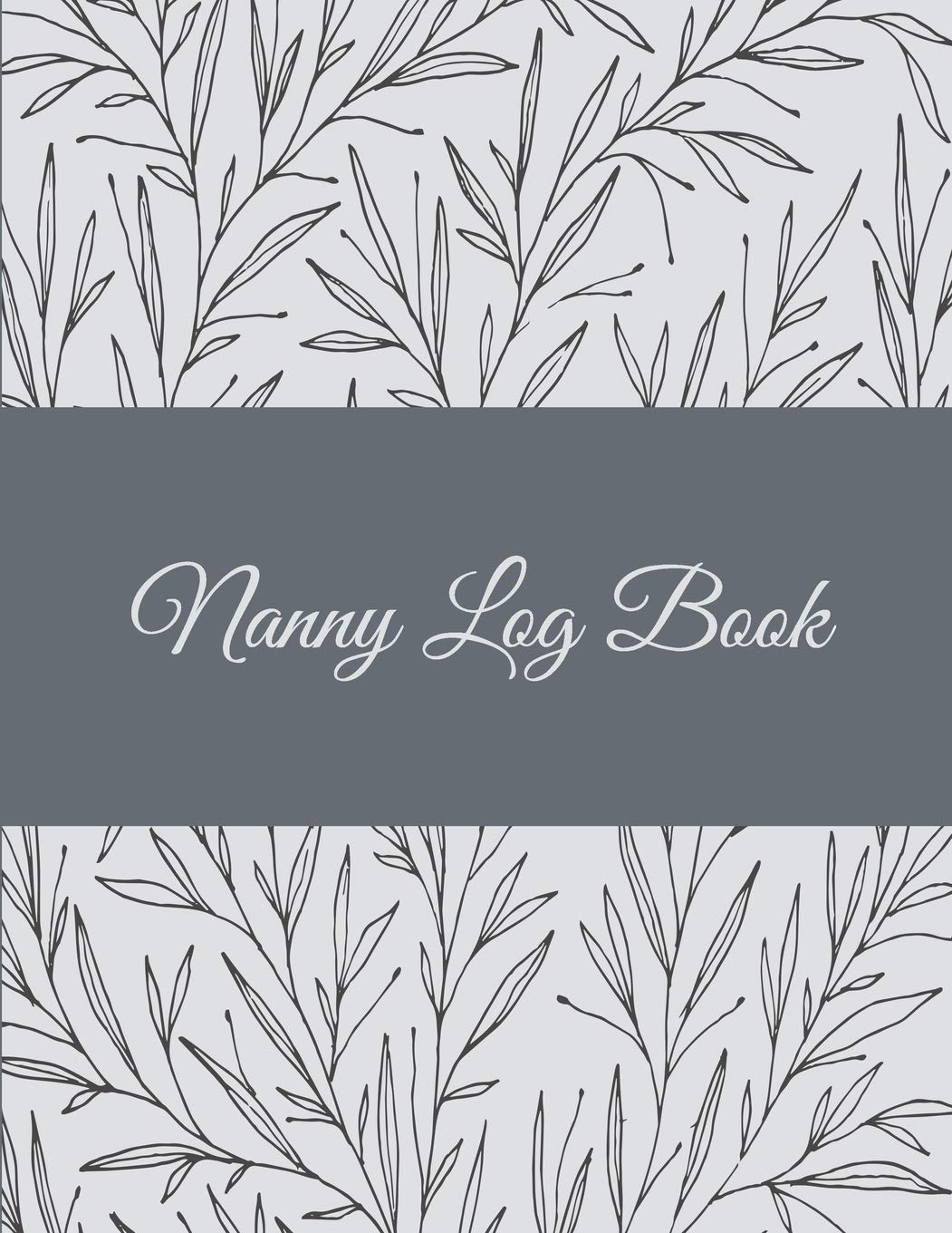 Image OfNanny Log Book: Floral Design, 8.5