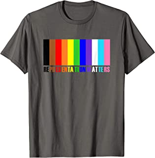 New Trans and People of Color Inclusive Pride Flag Colors T-Shirt