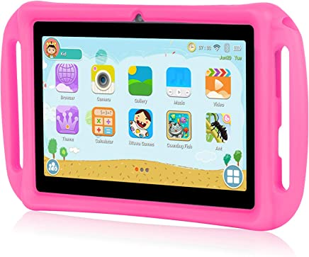 $35 Get Xgody T702 7 Inch Android Kids Tablet PC for Kids Quad Core Android 8.1 1GB RAM 16GB ROM Touch Screen with WiFi Pre-Loaded 3D Game Dual Camera Pink