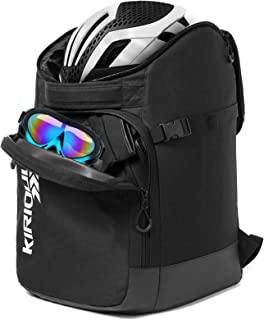 KIRIOUL Ski Boot Bag with Padded Protection, Skiing and Snowboarding Travel Backpack/Luggage with Waterproof Exterior & Bo...