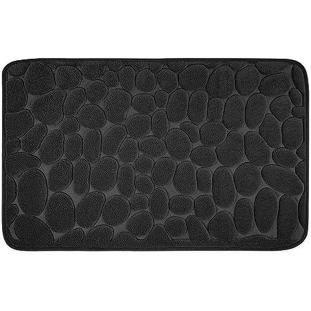 WohnDirect Alfombrilla de baño Negro • Memory Foam • Antideslizante y Lavable – 50 x 80 cm